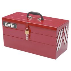 Clarke CHT641 199 Pce DIY tool kit with cantilever tool box