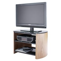 Alphason Finewoods FW750-LO/B Light Oak Finish Television Stand - For up to 37