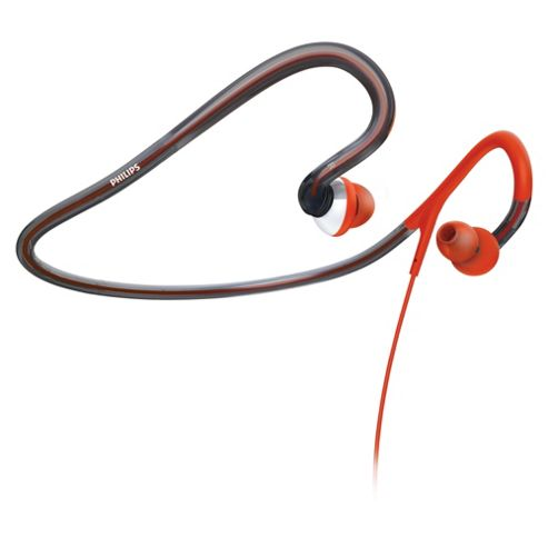 Philips Washable Sports Neckband Headphones Red SHQ4000/10