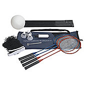Activequipment Four Player Badminton/Volleyball Set