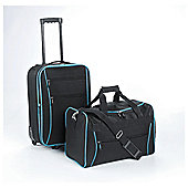 Tesco 2-Wheel Suitcase & Holdall Hand Luggage Set
