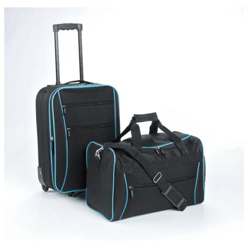 Tesco 2-Wheel Suitcase & Holdall Hand Luggage Set