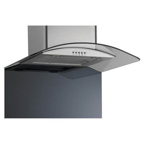 Caple CSBGCURVE/900EB 900 curved glass splashback