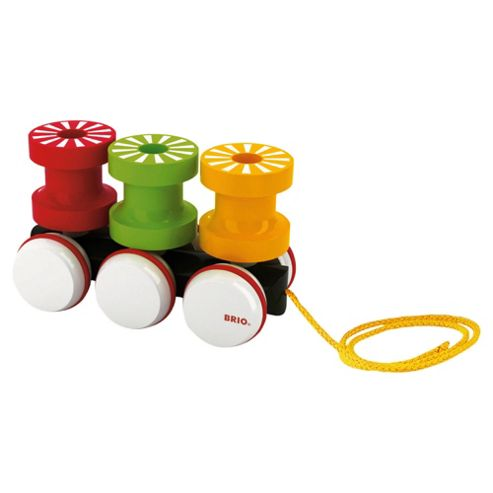 Brio Pull Along Spintop Wooden Toy