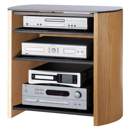 Alphason Light Oak Real Wood Veneer TV Stand for up to 37