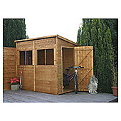 8x4 Pent Shed Unit with installation