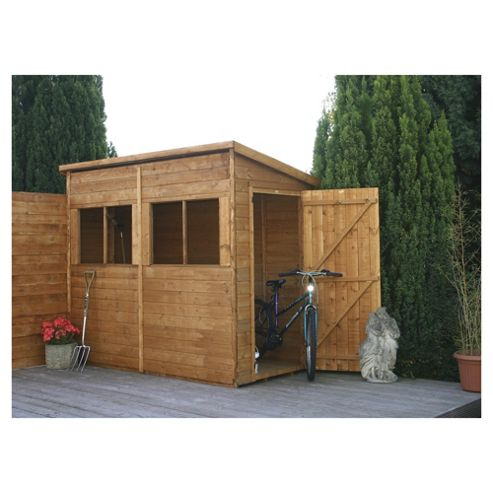 Mercia 8x4 Pent Shed Unit with installation