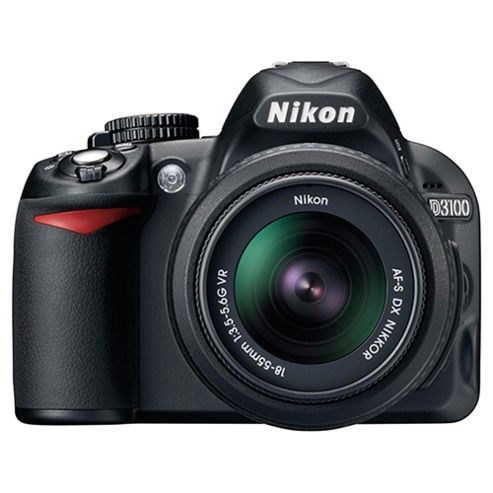 Nikon D3100 Digital SLR Camera with 1855mm VR Lens Black