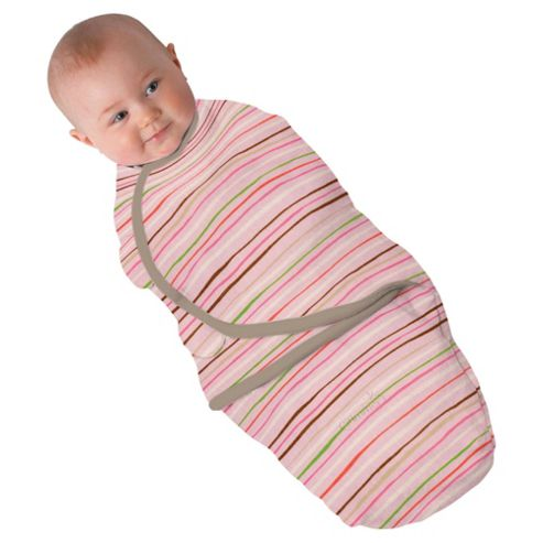 Summer Infant Swaddleme, Wavy Stripe Pink