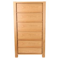 Hudson 5 Drawer Chest, Oak
