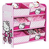 Hello Kitty 6 Bin Storage
