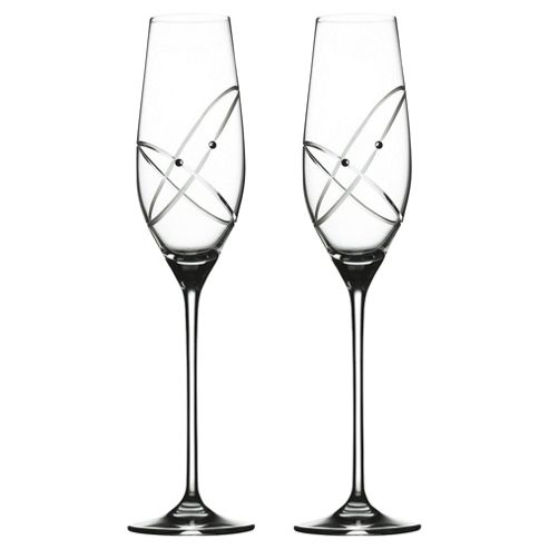 Royal Doulton With This Ring Set of 2 Flute Glasses