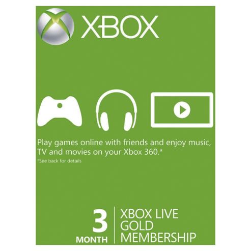 Xbox Live - 3 Month Gold Card.