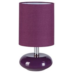 Tesco Lighting Ceramic Table Lamp Plum, Set Of 2