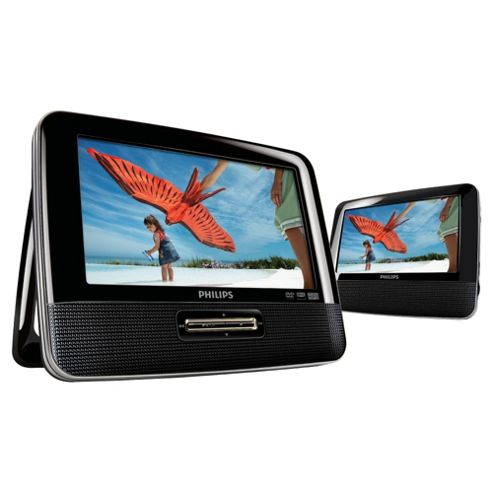 Philips PD7022 Twin 7 Portable DVD Players with Car Adapter and Mounts