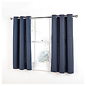 Tesco Plain Canvas Unlined Eyelet Curtains - Petrol blue