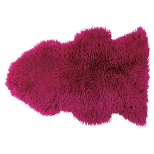 Tesco 100% Wool Sheepskin Rug, Pink