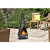 La Hacienda Colorado Contemporary Steel Chimenea - Bronze
