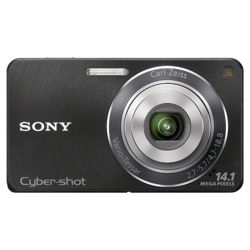 Sony DSCW350B Cyber-shot Digital Camera - Black (14.1 MP, 4x Optical Zoom) 2.7 inch LCD