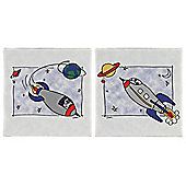 2 Pack Rockets Canvas 30X30Cm
