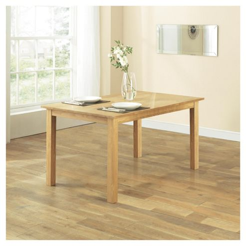 Hereford Fixed Dining Table, Solid Oak