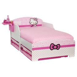Hello Kitty Toddler Bed With Underbed Storage & Bedside Shelf