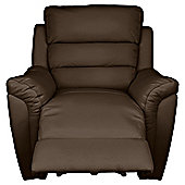 Chloe Recliner Chair Leather, Brown