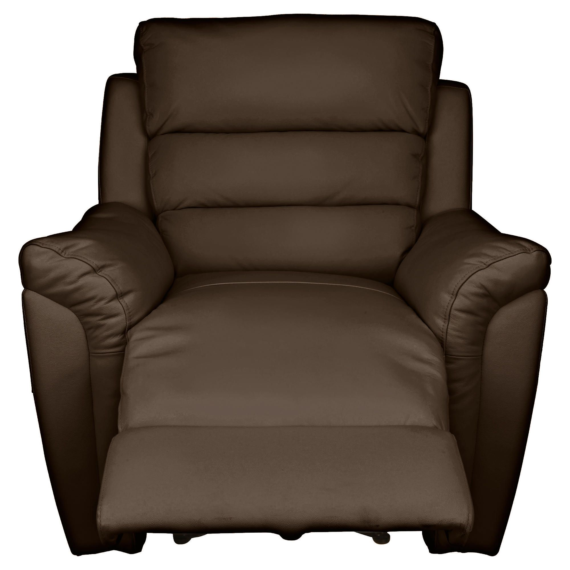 Chloe Recliner Chair Leather, Brown at Tesco Direct