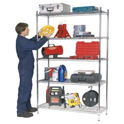 Clarke CS5000C 5 shelf boltless wire shelving