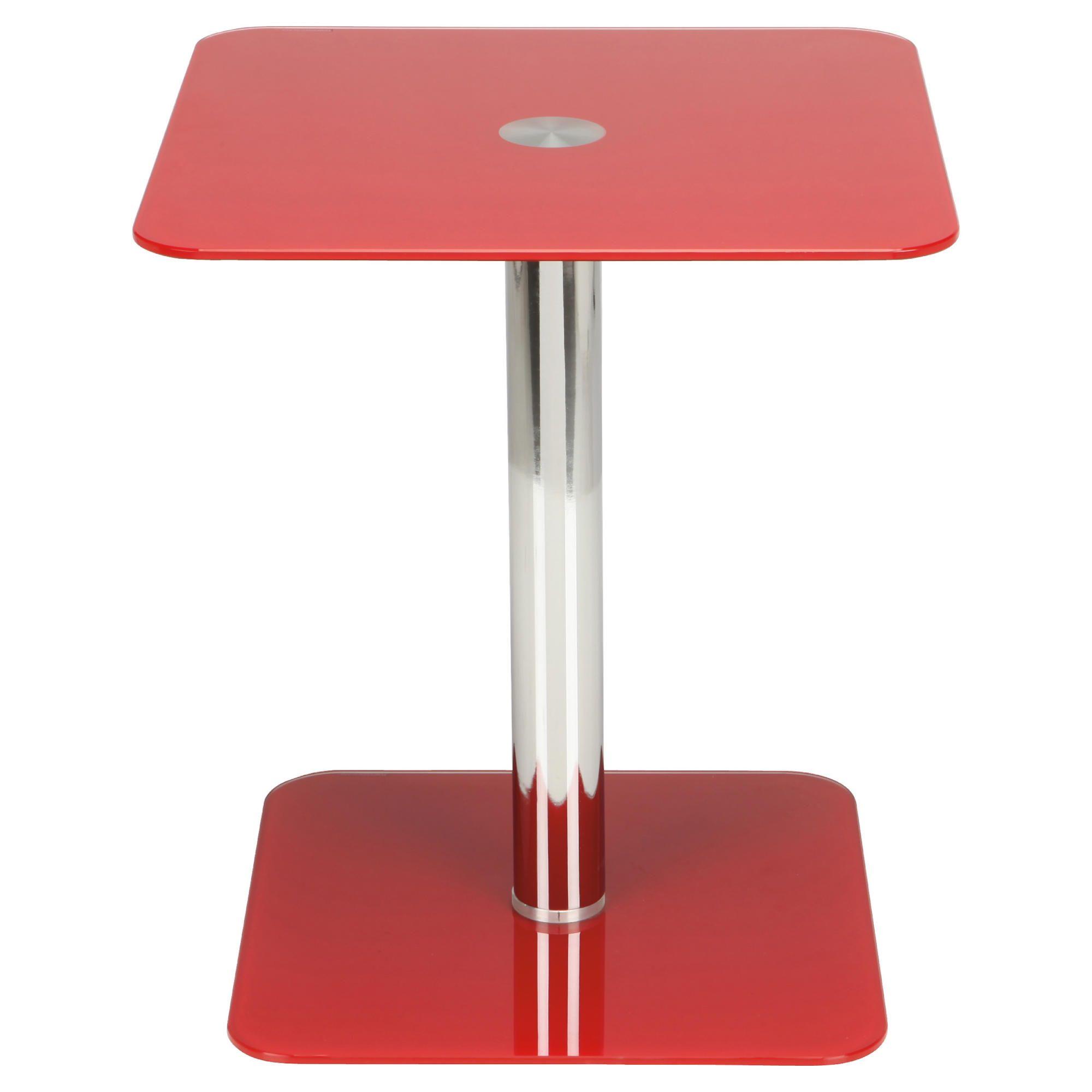 Tesco Atom Pedestal Side Table, Red