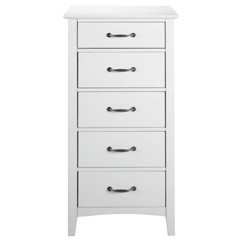 Stockholm 5 Drawer Chest, White