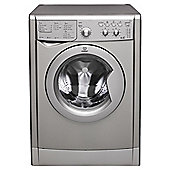 Indesit IWDC6125S Washer Dryer, 6Kg Wash Load, 1200 RPM Spin, B Energy Rating, Silver