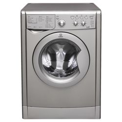 Indesit IWDC 6125 S Washer Dryer, 6kg Wash Load, 1200rpm Spin, B Energy Rating. Silver