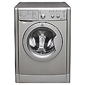 Indesit IWDC6125S Freestanding Washer Dryer, 6Kg Wash Load, B Energy Rating, Silver