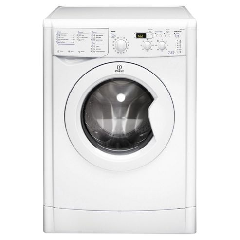 Indesit IWDD7123 Freestanding Washer Dryer, 7Kg Wash Load, B Energy Rating, White