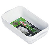 Pyrex Wave 21x14cm Rectangular Ceramic Roasting Dish, White