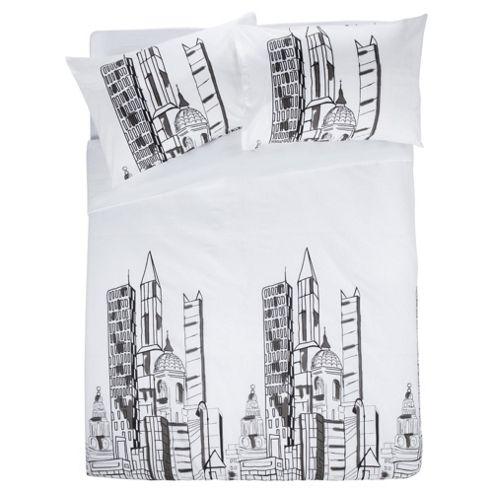 Tesco Building Block King Size Print Duvet Set King Size- White