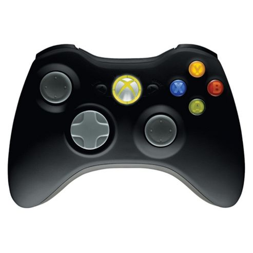 Xbox 360 Wireless Controller & Play and Charge Kit Black.
