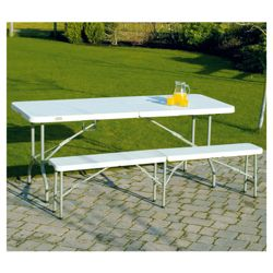 Clarke high density polypropylene & metal frame HDT1830 - 6ft folding table