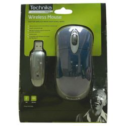 Technika WM110BL 2.7 GHz Wireless Optical Mouse Blue