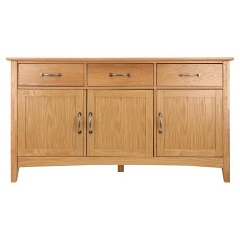 Stockholm 3 Drawer 3 Door Sideboard, Oak