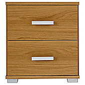 Fresno Bedside Chest, Oak-Effect