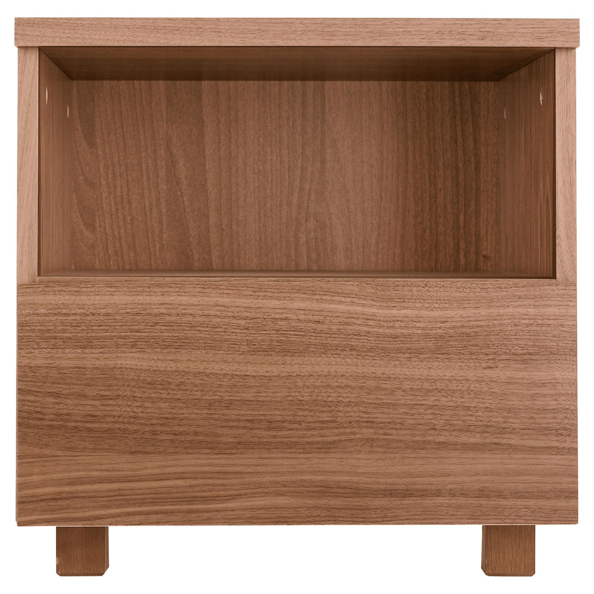 Maddox Bedside Chest, Walnut Veneer