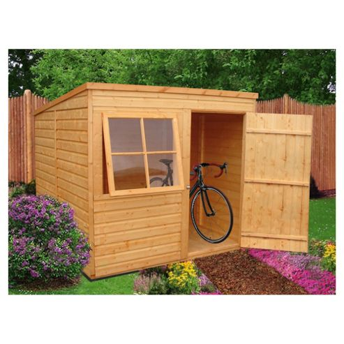 Finewood Timber Shiplap Pent Wooden Shed, 8x6ft