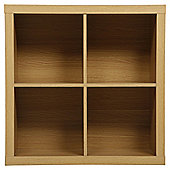 Tribeca 4 Shelf Cube Unit Oak