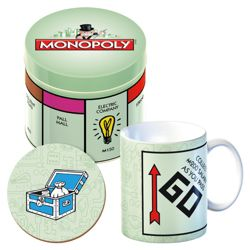 Monopoly Tin Mug Gift Set