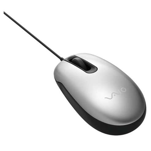 Sony VAIO Wired USB Optical Mouse Silver