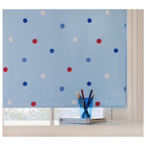 Kids Polka Dot Blind 120Cm, Blue