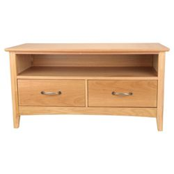 Stockholm 2 Drawer Tv Unit, Oak