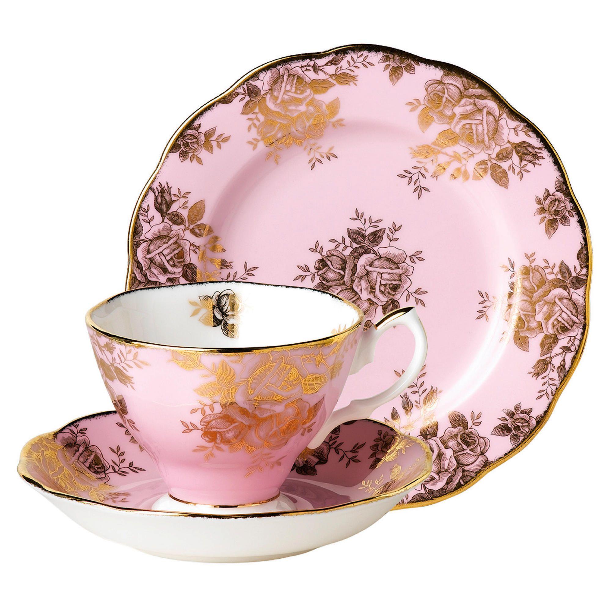 Royal Albert 1960 Golden Rose Tea Set